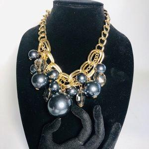 """Beautiful """"Statement Piece"""" gold tone/Black Beads"""